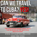 The confusion is over!  Can we still travel to Cuba? The answer is YES!