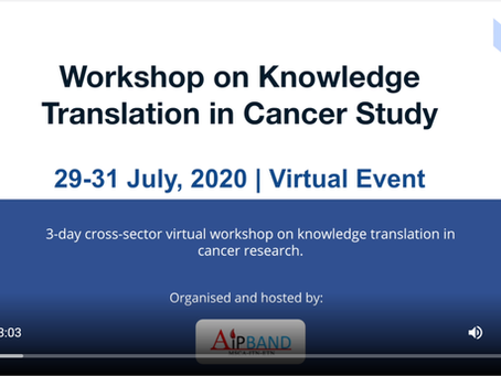 Network Training Event NT-8: Workshop on Knowledge Translation in Cancer Study
