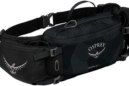 Osprey Savu Lumbar Bottle Pack: Obsidian Black