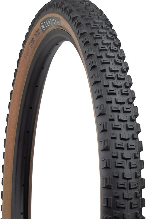 Teravail Honcho Tire - 27.5 x 2.4, Tubeless, Folding, Tan, Light and Supple