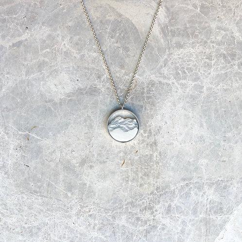Collar Circular Mini Plata