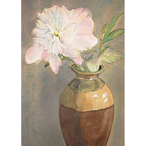 Peony in the Clay Pot