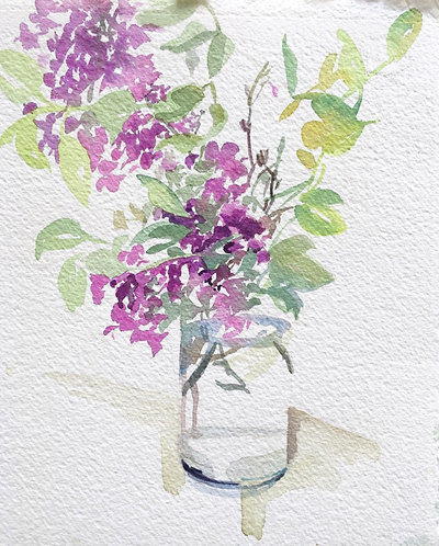 Lilac in the Cylindrical Vase