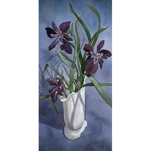Old Vase with Iris