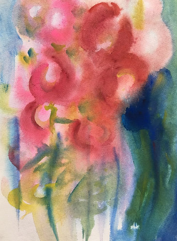 Hollyhock Abstracted
