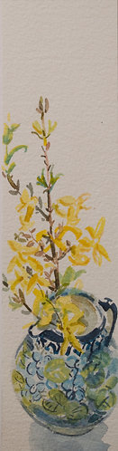 Forsythia in the Tiny Vase