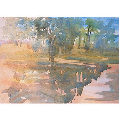 Sundown on Salmo Pond