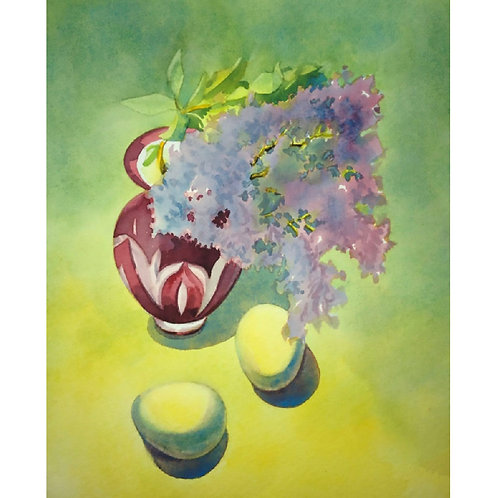 Lilac in the Red Vase