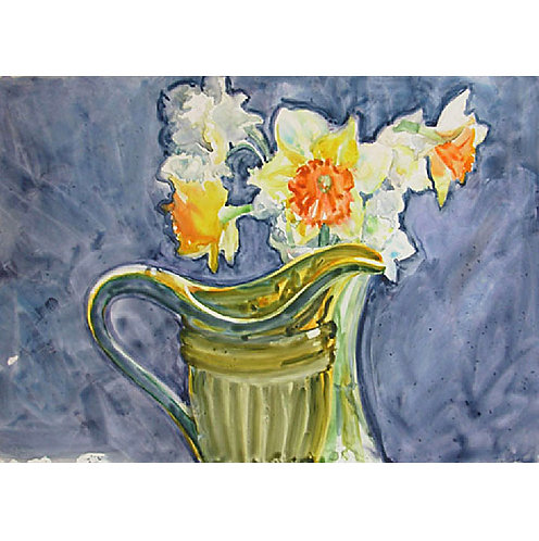 Daffodils Vase and Pitcher