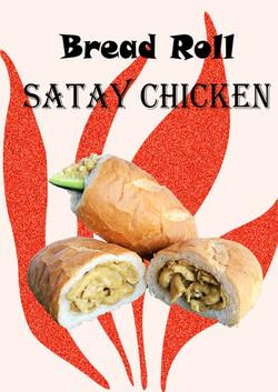 Chicken Satay Bread Roll