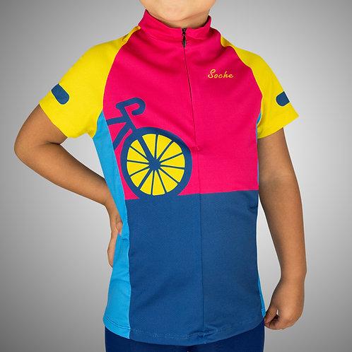 Jersey Ciclismo Infantil Manga Corta -Unisex