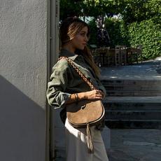 """""""Morpho"""" Beige Shoulder Bag"""