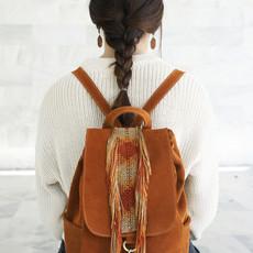 """Alexanor"" Camel Macrame Backpack"