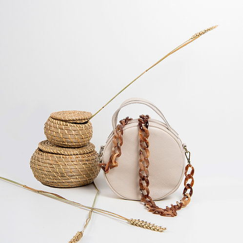 """Iris"" Almond Cross-Body Bag"