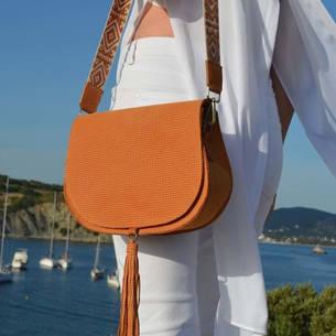 """Morpho"" Orange Bag"