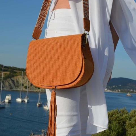 """""""Morpho"""" Orange Shoulder Bag"""