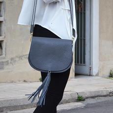 """""""Morpho"""" Grey Shoulder Bag"""