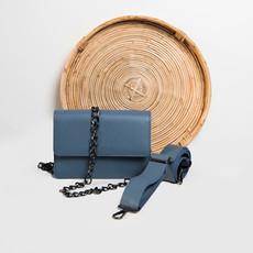 """Papilio"" Grayish-Blue Cross-Body Bag"