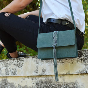 """Papilio"" Green Bag"