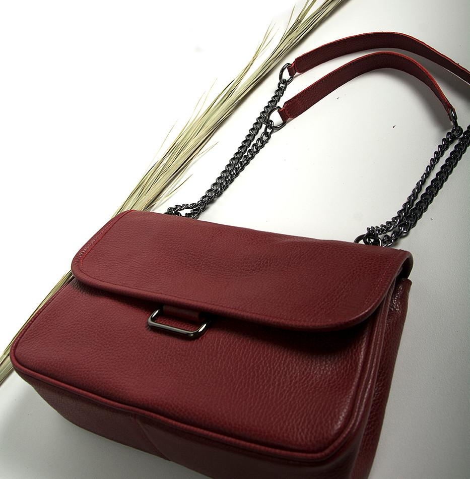 """""""Vanessa"""" Small Bordeaux Shoulder Bag"""