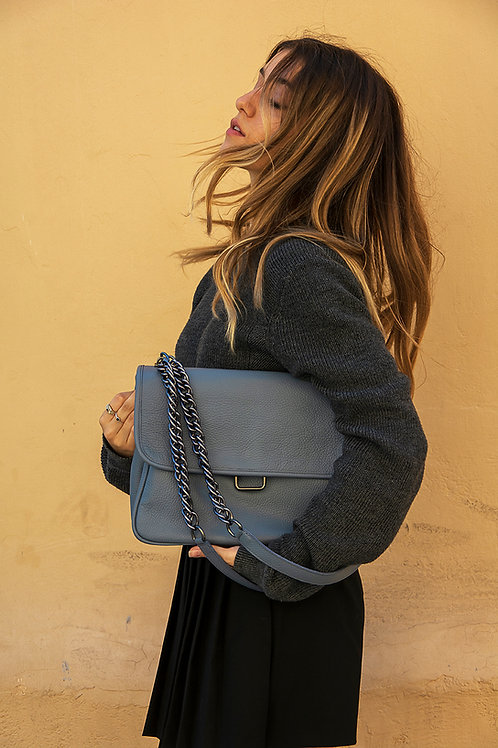 """Vanessa"" Grayish-Blue Bag"