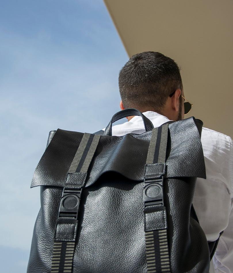 """""""Thiseas"""" Black Backpack"""