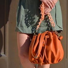 """Ekavi"" Orange Bucket Bag"