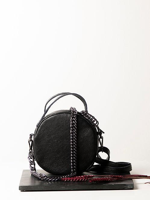 """Iris"" Black Cross-Body Bag"