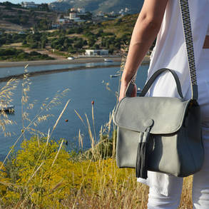 Grey Postman Bag