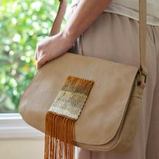 """""""Rutulus"""" Beige Postman Bag"""