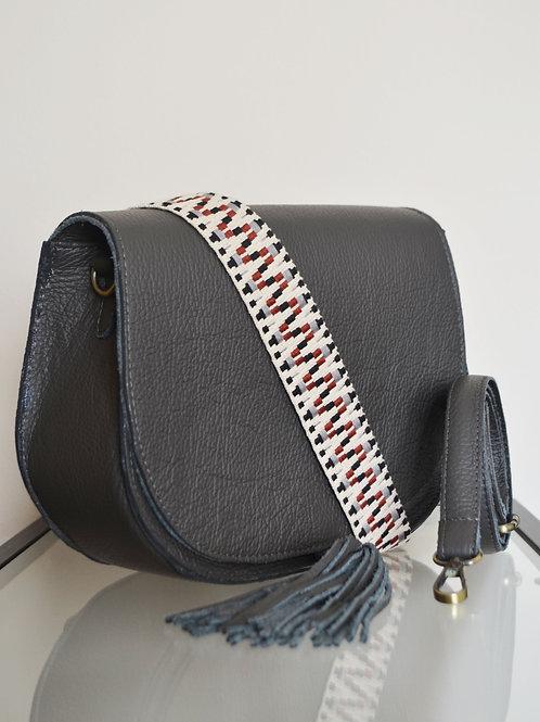 """""""Morpho"""" Dark Gray Shoulder Bag"""