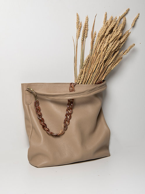 """""""Athena"""" Sand Brown Tote Bag"""