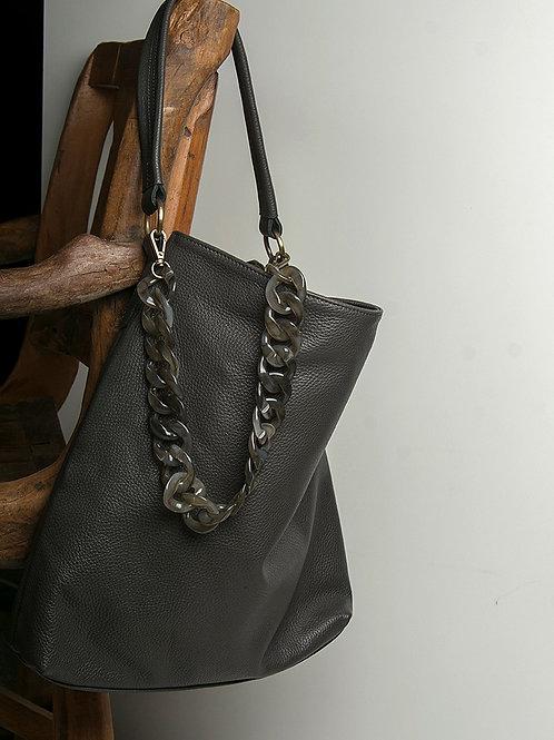 """""""Athena"""" Stone-Grey Tote Bag"""