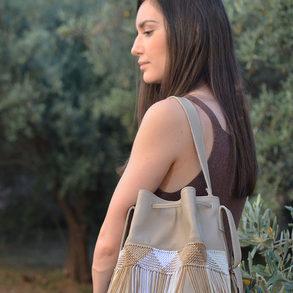 """Zenobia"" Beige Bag"