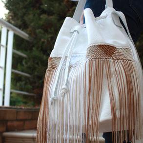 """""""Zenobia"""" Big White Bag"""