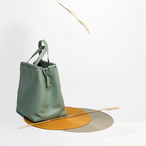 """Napi"" Mint Tote Bag"