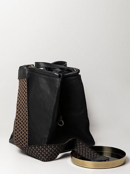 """Napi"" Black Tote Bag"