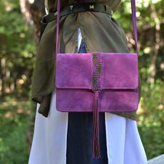 """Papilio"" purple box bag"