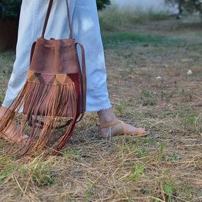 """Zenobia"" Big Dusty Pink Bag"