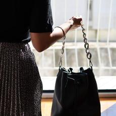 """Zenobia"" Black Bucket Bag"
