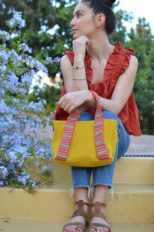 """""""Eugenia"""" Yellow Mini Tote Bag"""