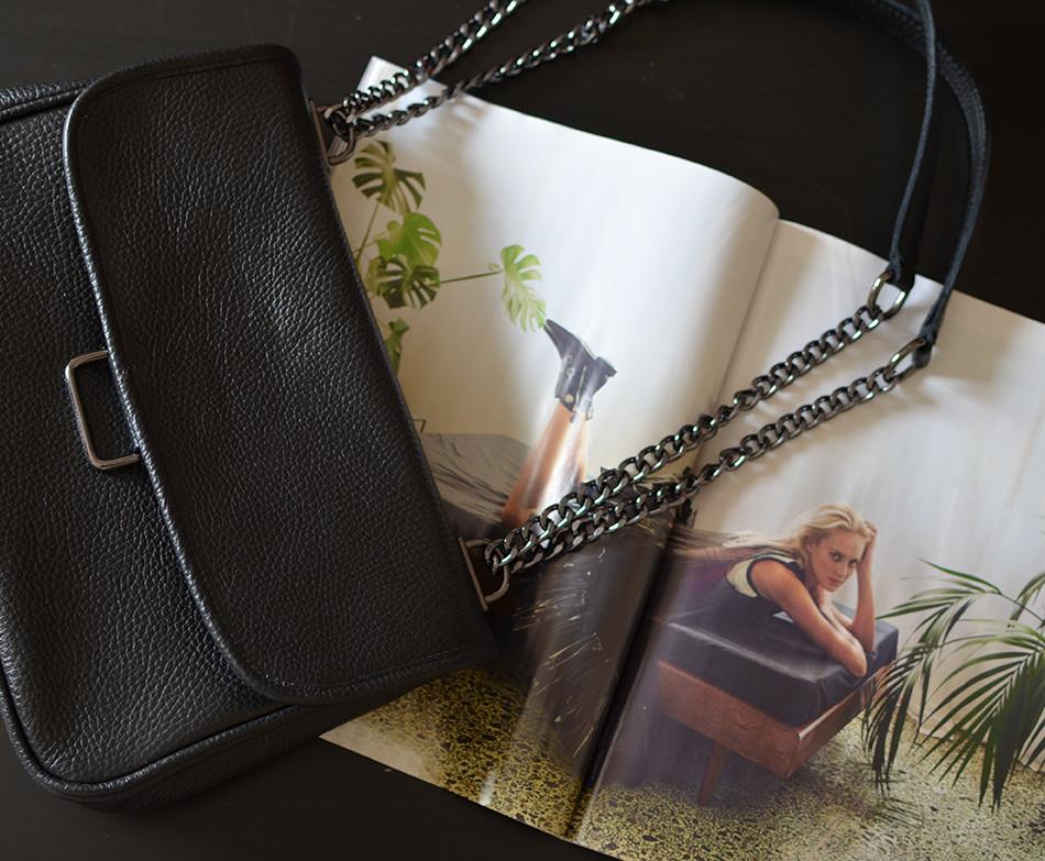 """""""Vanessa"""" Small Black Shoulder Bag"""