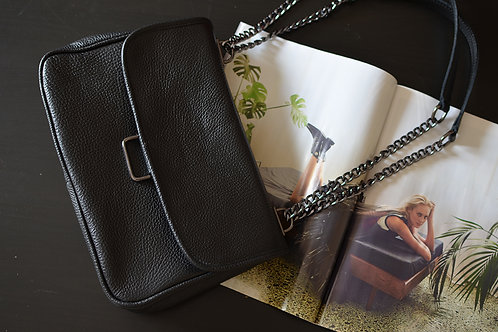 """Vanessa"" Small Black Shoulder Bag"