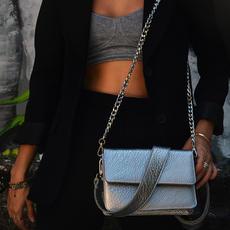 """Papilio"" Silver Cross-Body Bag"