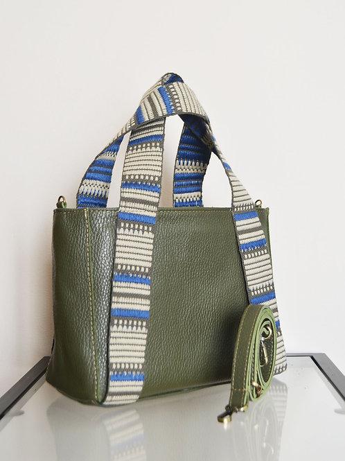 """Eugenia"" Khaki Mini Tote Bag"