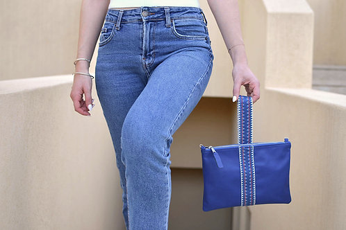 """Helena"" Blue Clutch Bag"