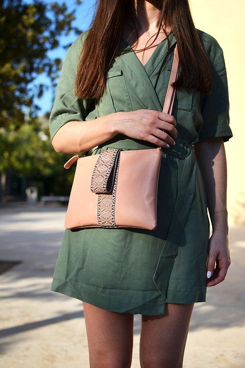 """Helena"" Salmon-Pink Clutch Bag"