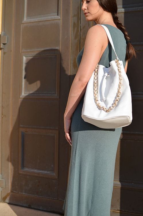 """Zenobia"" White Bag"