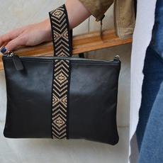 """""""Helena"""" Black Clutch Bag"""