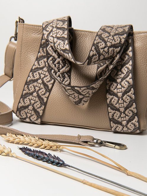 """Eugenia"" Sand Brown Mini Tote Bag"